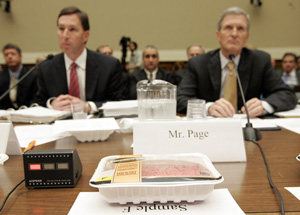 executives from Hormel Foods Corporation and Cargill, Inc. testify before Congress on food safety in November 2007