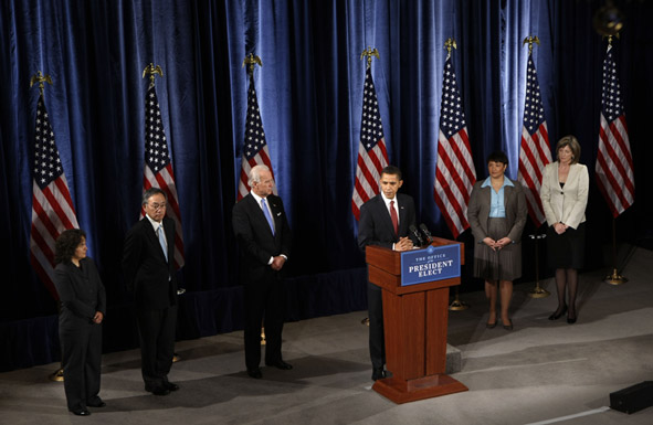 announcement of Obama energy team
