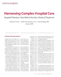 Harnessing Complex Hospital Care report