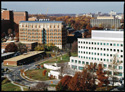 aerial view of the NIH campus in Bethesda, Maryland