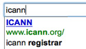 Google search results for ICANN